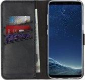 Selencia Echt Lederen Booktype Samsung Galaxy S8 hoesje - Zwart