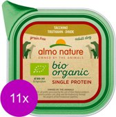 Almo Nature Alu Bio Organic Single Protein 150 g - Hondenvoer - 11 x Kalkoen Graanvrij
