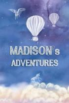 Madison's Adventures: Softcover Personalized Keepsake Journal, Custom Diary, Writing Notebook with Lined Pages