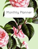 Monthly Planner 2020: One Year Planner Monthly Planner and Calendar - 1 Year Planner and Monthly Calendar with Holidays - Agenda Schedule Or