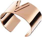 LOISIR 02L27-00622 grote, stijlvolle armband van rosé goudkleurig