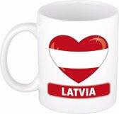 Hartje Letland mok / beker 300 ml