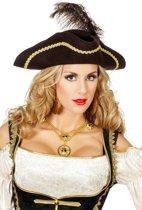 Piraten driesteek wolvilt bruin