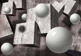Fotobehang Abstract Monochrome Modern Design | M - 104cm x 70.5cm | 130g/m2 Vlies