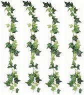 4x Luxe klimop kunstplant slingers 180 cm - Hedera kunstplanten/nepplanten