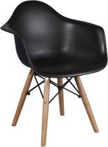 Kinderstoel Kuip - Houten onderstel - Zwart