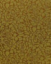 Hoogwaardig vinyl behang EDEM 830-28 Groen behang neo behang geel-groen olijf-groen brons | 70 cm
