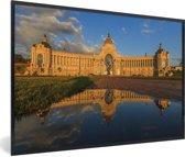 Foto in lijst - Het zonovergoten landbouwpaleis in Kazan fotolijst zwart 60x40 cm - Poster in lijst (Wanddecoratie woonkamer / slaapkamer)