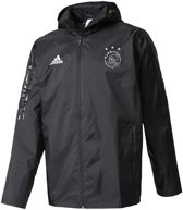 Ajax All Weather Jacket Technische Staf Senior 2017-2018 - Zwart/Rood - Maat XL