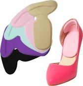 3 paar comfortabele hielbeschermers - inlegzolen voor hoge hakken of schoenen - zacht en flexibele hielbeschermers - voorkomt blaren en pijn door de hak - multi colour - one size hielbescherming