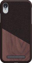 Nordic Elements Frejr backcover voor Apple iPhone XR -  Walnoot hout / bruin textiel
