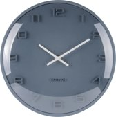 Wall clock Elevated petrol blue dome glass