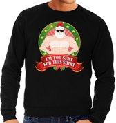 Foute kersttrui zwart Im Too Sexy For This Shirt voor heren L (52)