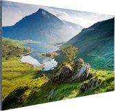 Landschap in Wales Aluminium 180x120 cm - Foto print op Aluminium (metaal wanddecoratie) XXL / Groot formaat!
