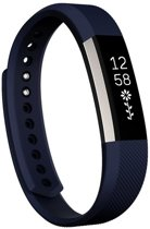 HIPFIT Siliconen bandje - Fitbit Alta (HR) - Donker blauw - Small
