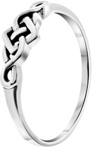 Lucardi - Zilveren ring bewerkt Bali