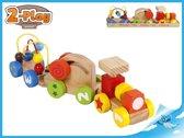 2-Play houten trein met activiteiten