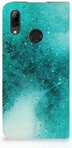 Huawei P Smart (2019) Uniek Standcase Hoesje Painting Blue