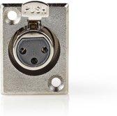 Nedis Bevestiging voor XLR-Housing XLR 3-pins F 25pcs Metal