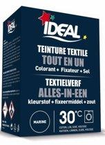 Ideal Textielverf, Marine Blauw, Alles in één, kleurstof + Fixeermiddel + Zout