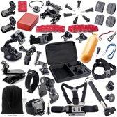QY Accessoires set voor GoPro - 44-delig - in luxe opbergkoffer - voor Go Pro Hero 1 , 2, 3, 3+, 4 & 5, SJCAM SJ4000, SJ5000 en SJ6000, Heken H9