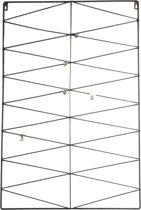 Housevitamin Storage Stuff - Metalen memo rek met 5 metalen knijpers - Zwart - 50x75cm
