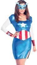 Miss America Dream - Kostuum Volwassenen - Maat XS - 32 - Carnavalskleding