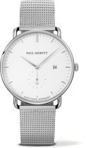 Paul Hewitt Grand Atlantic Line - PH-TGA-S-W-4M - Horloge - Staal - Zilverkleurig - Ø42mm