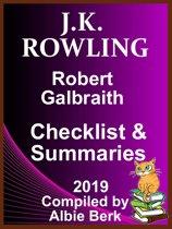 J.K Rowling: Robert Galbraith - Checklist & Summaries