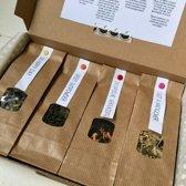 Theebox Verrassing   Losse thee   Proefpakket met 4 verschillende smaken   4x 20g