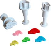 Dekofee Mini Plunger Uitstekers Cars set/3