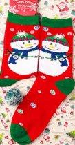 Kerst Cadeau Sokken sneeuwpop Maat 35-38.5