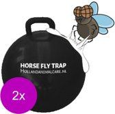 Horse Fly Trap Ball - Anti insect - 2 x 45 cm Zwart