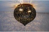 dePauwWonen Plafondlamp Ameera Zwart/Goud Onion