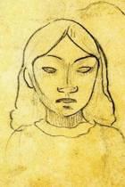 Tahitian Woman's Head by Paul Gauguin