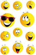 99x Smiley stickers - kinderstickers - stickervellen - knutselspullen