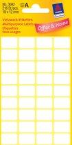 50x Avery Witte etiketten 18x12mm (bxh), 216 stuks