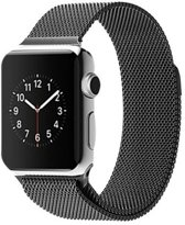 Milanees Loop Armband Voor Apple Watch Series 1/2/3/4 42/44 MM Iwatch Milanees Horloge Band - Zwart