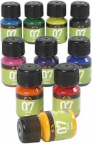 A-Color Glass, 10x30 ml, diverse kleuren