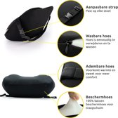 COMFY® Ergonomische Rugsteun en Neksteun Auto - Rugkussen en Nekkussen voor Autostoel - Lendekussen - Traagschuim