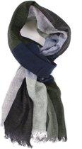 Dunne sjaal -  Mooie sjaal - Geblokt design - 100% Katoenen sjaal