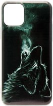 ADEL Siliconen Back Cover Softcase hoesje voor iPhone 11 Pro - Wolf Zwart