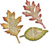 Sizzix Bigz Die Set Tattered Leaves ontworpen door Tim Holtz, 2 stuks