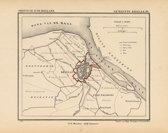 Historische kaart, plattegrond van gemeente Brielle in Zuid Holland uit 1867 door Kuyper van Kaartcadeau.com