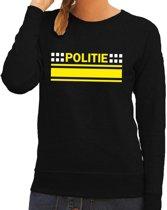 Politie logo sweater zwart voor dames XL