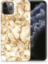 TPU Siliconen Hoesje iPhone 11 Pro Marmer Goud