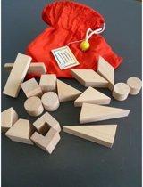 Tast memory blank houten blokjes in zak