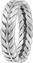 Lucardi - Zilveren ring blad Bali