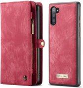 CASEME Samsung Galaxy Note 10 Vintage Portemonnee Hoesje - Rood