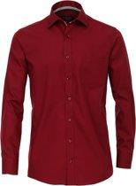 Casa Moda Heren Overhemd Bordeauxrood Kent Poplin Comfort Fit - 41